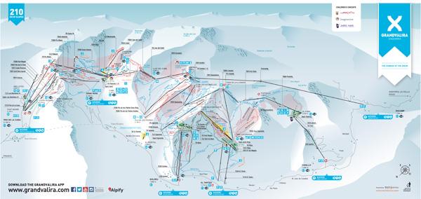 Soldeu Piste Map Grandvalira   Soldeu Piste Map Soldeu Piste Map