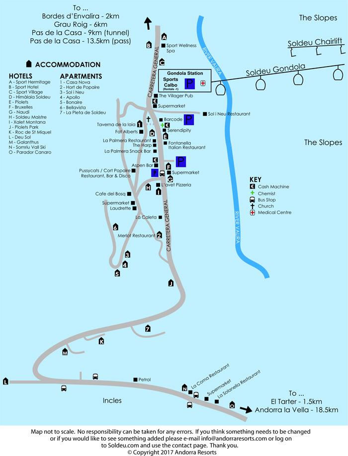 Map Of Soldeu Map For This Grandvalira Ski Resort - Send us map