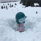 Snow so deep the Mont Magic characters need to be dug out!