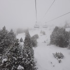 Low visibility but fantastic snow conditions