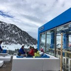 Iqos terrace - brilliant atmosphere, up-beat tunes and great mountain views!
