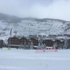 The view of Hotel Nordic from the slopes of El Tarter