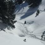 Off piste in Soldeu after a big dump of snow