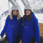 Esther and Ellen ready for the Canillo zipline