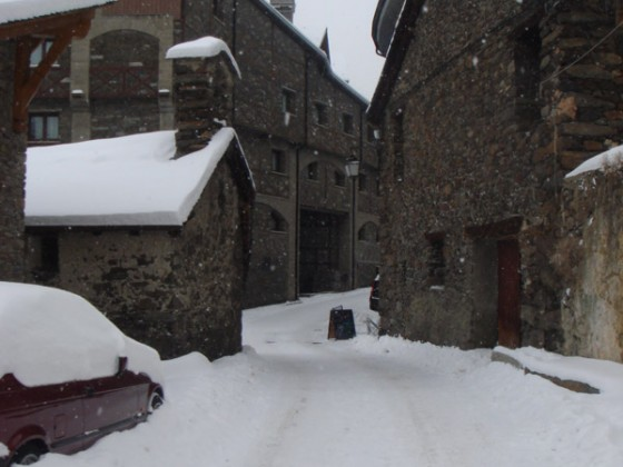 Looking to the old part of the village - 18/12/11