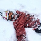 Falling isn't so bad when you're surrounded by deep thick snow!
