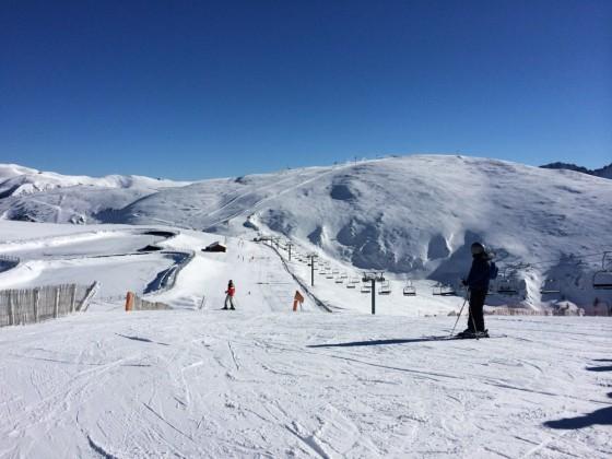 Beautiful skiing day