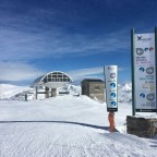 View of the TSD6 Pla de les Pedres Soldeu lift, on our way to Grau Roig on a sunny day.