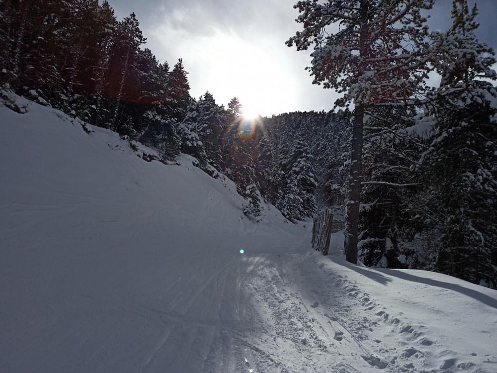Empty slopes on Soldeu