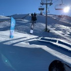 El Tarter snow park rails from Tosa Espiolets chairlift