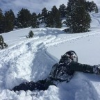 Buried in 50cm of snow.