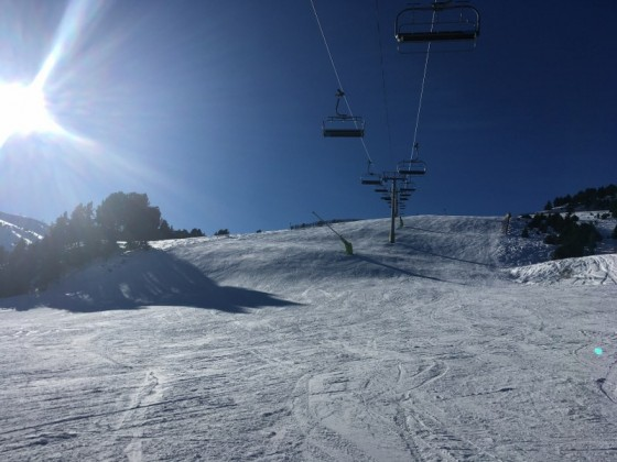 The blue slope Os had perfect conditions