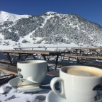 Coffees on Sunday morning on the slopes