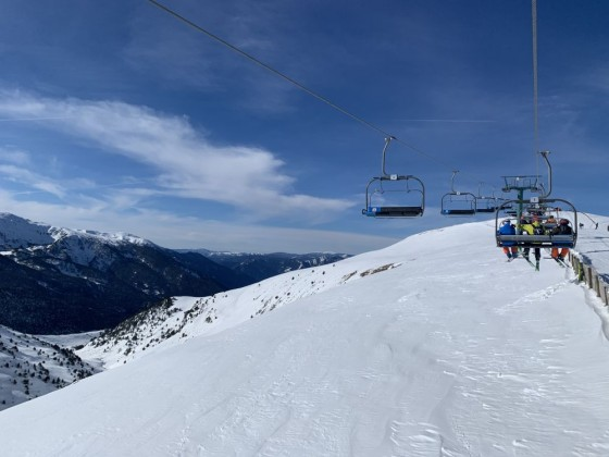 Off-piste section beneath Els Clots chairlift