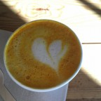 We stopped to have a Tumeric Latte in Cafe del Bosc