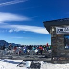 Gorgeous bluebird day - perfect for sunbathing outside Colibri snack bar!