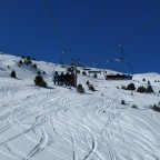 Fresh lines under Solanelles chairlift