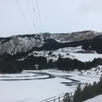 Canillo lake - at the bottom of the zip line