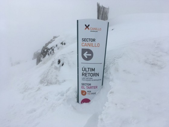 When the snow is so deep it buries the sign you know it's going to be a good day!