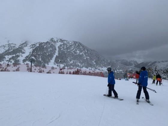 Andorra Resorts team on Gall de Bosc blue run