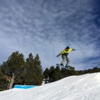 Hitting El Tarter Snow Park on a beautiful bluebird day