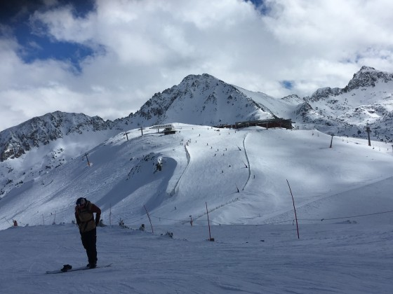 Looking across to Funicamp from Pla de les Pedres chairlift