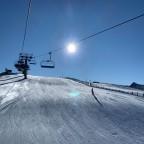 Skier on Mussol red run