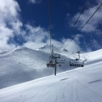 Riu Solanelles red run under the Pla de les Pedres chairlift