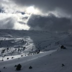 Moody skies looking out towards the Assaladors chairlift