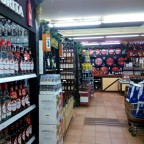 The Alcohol and meats aisles