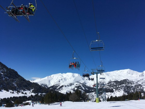 Pi de Migdia chairlift, beginners area in El Tarter