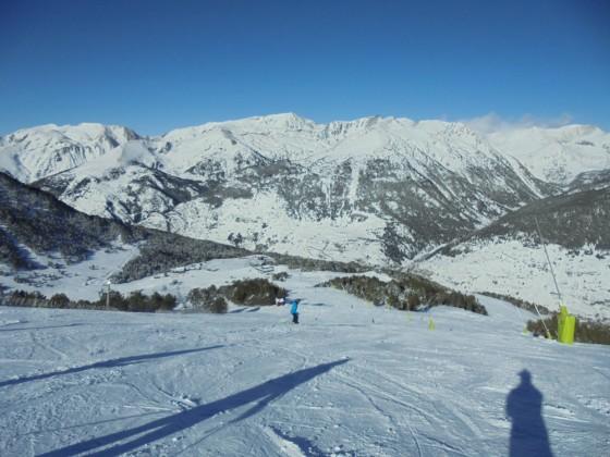 Plenty of snow in the slopes