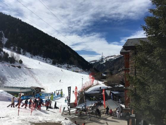 Base of El Tarter slopes from Hotel Nordic