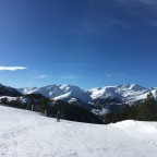 Quiet slopes and beautiful blue skies