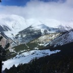 Looking down to Canillo Ski School & Beginners Slopes