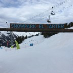 Entrance to the lower section of the El Tarter Snow Park