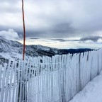 Frosty fences along Les Deveses blue run