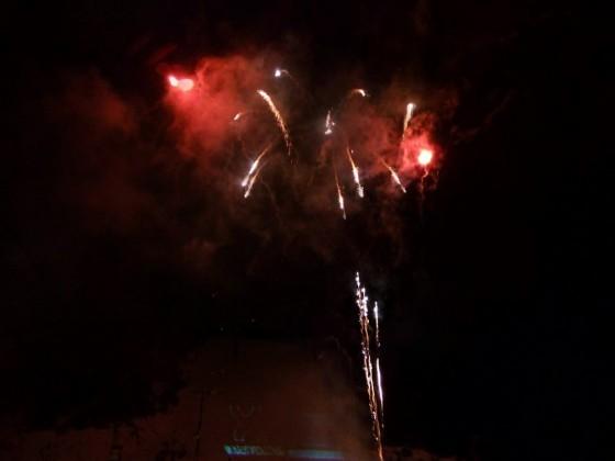 Firework display in Soldeu