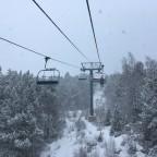 TSD6 Soldeu lift on powder day