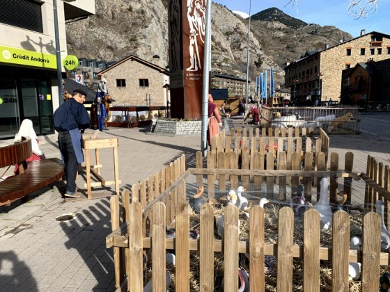 Christmas decorations in Canillo village