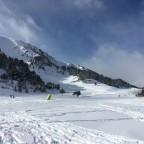 Views heading towards TLC Gall De Bosc rope lift from Ski School