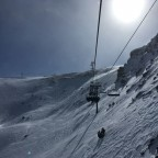Llosada chairlift in the sunshine
