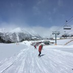Riding towards the Llosada chairlift in Half Term