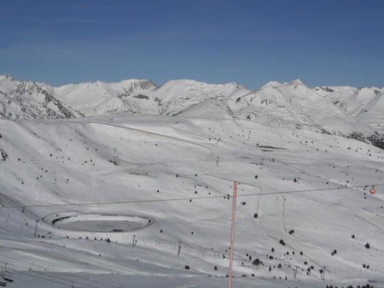 Snow covered Soldeu slopes 12/12/12