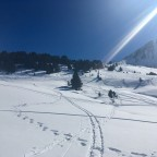 Views from the Llac de Cubil skidoo track