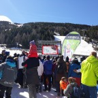 Watching the Super G race from base of Aliga slope in El Tarter, 14.03.2019
