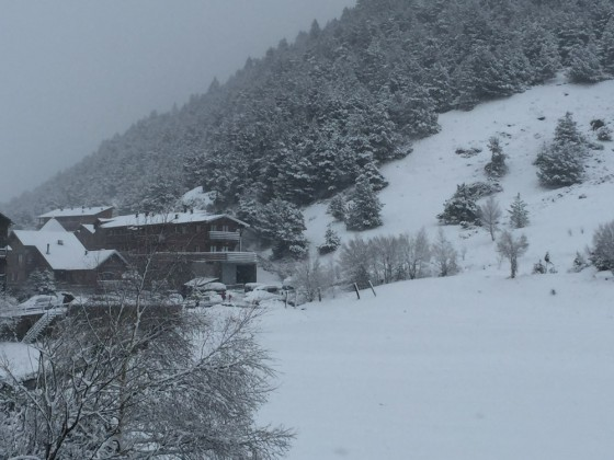 New snow falls on Soldeu