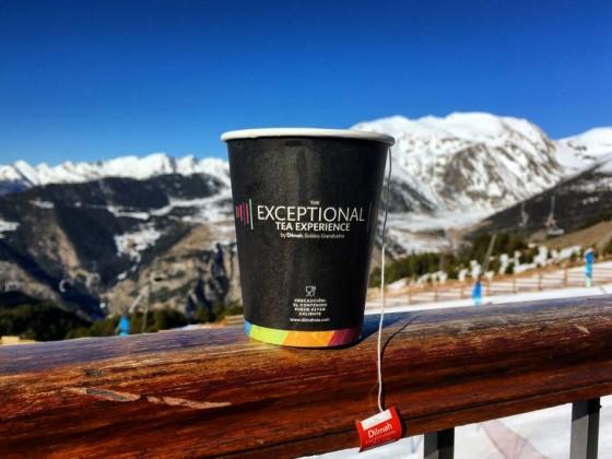 Tea time on the terrace! (El Forn terrace, Canillo)