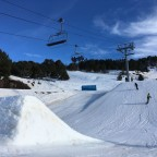 Red-;evel kickers in El Tarter Snow Park
