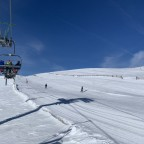View of Daina blue run from Els Clots chairlift
